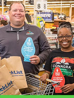CONAGRA BRANDS FOUNDATION SHINES THE LIGHT ON HUNGER